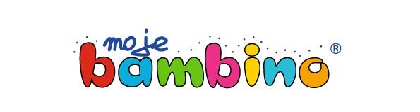 LOGO Moje Bambino, firmy specjalizującej się w monitorach interaktywnych, które można zakupić w ramach wsparcia finansowego aktywna tablica